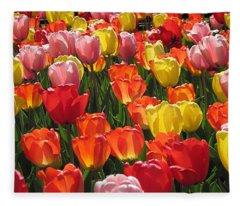 Tulips Like Sunlight Fleece Blanket