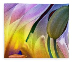 Tulips Secret Fleece Blanket