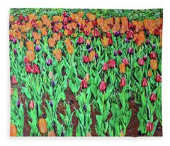 Tulips Tulips Everywhere Fleece Blanket