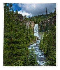 Tumalo Falls Fleece Blanket