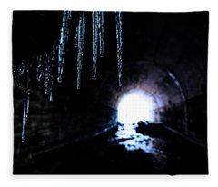 Tunnel Icicles 2 Fleece Blanket