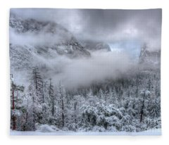 Tunnel View Yosemite National Park Ansel Adams Fleece Blanket