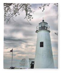 Turkey Point Lighthouse Fleece Blanket