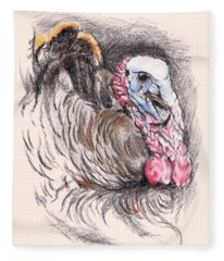 Turkey Tom Fleece Blanket