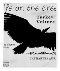 Turkey Vulture Fleece Blanket
