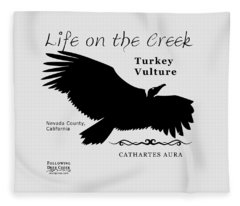 Turkey Vulture Fleece Blanket