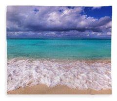 Turks And Caicos Beach Fleece Blanket