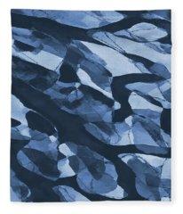Turning Tide Navy Blues Fleece Blanket