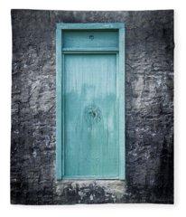 Turquoise Door Fleece Blanket