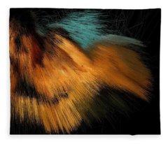 Turquoise Dunes Fleece Blanket