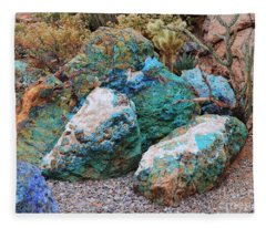 Turquoise Rocks Fleece Blanket