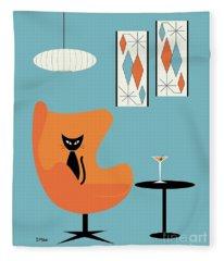 Turquoise Room Fleece Blanket