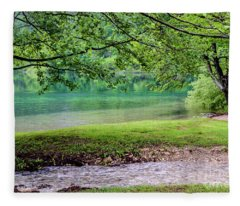 Turquoise Zen - Plitvice Lakes National Park, Croatia Fleece Blanket