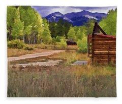 Turrett - Colorado Ghost Town Fleece Blanket