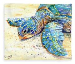 Turtle At Poipu Beach 4 Fleece Blanket