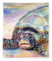 Turtle At Poipu Beach Fleece Blanket