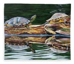 Turtle Family Fleece Blanket