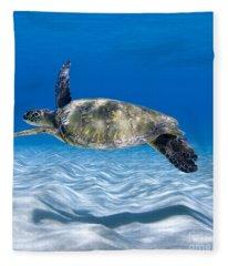 Turtle Flight -  Part 2 Of 3  Fleece Blanket