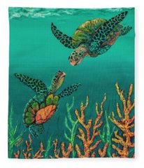 Turtle Love Fleece Blanket