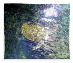 Turtle Water Glide Fleece Blanket