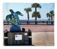 Turtletracks Gulf Shores Orange Beach Al Seascape 1561a Fleece Blanket