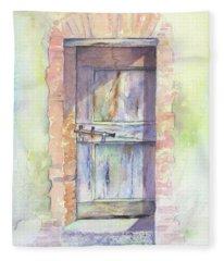 Tuscan Doorway Fleece Blanket