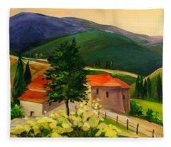 Tuscan Hills Fleece Blanket