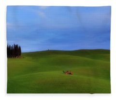 Tuscan Landscaping Fleece Blanket