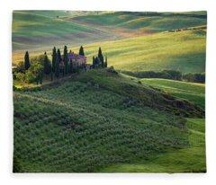Green Hills Of Val De L' Orca Tuscan Villa Fleece Blanket