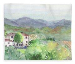 Tuscan Vineyards Fleece Blanket