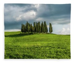 Tuscan Wonderland - Val D Orcia Fleece Blanket