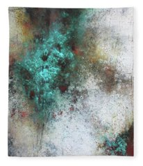Tuscany Oil And Cold Wax Fleece Blanket