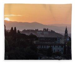 Tuscany Sunset In Florence Italy  Fleece Blanket