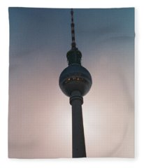 Tv Tower Berlin Fleece Blanket