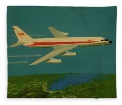 Twa Convair 880 Fleece Blanket