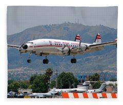 Twa Lockheed Super Constellation N6937c Fleece Blanket