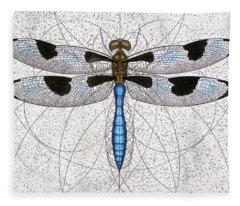 Twelve Spotted Skimmer Fleece Blanket