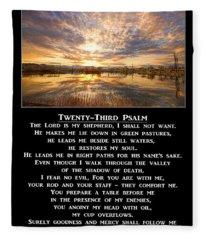Twenty-third Psalm Prayer Fleece Blanket