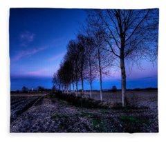 Twilight And Trees Fleece Blanket