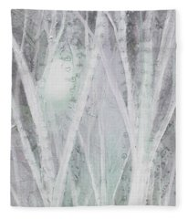Twilight In Gray I Fleece Blanket