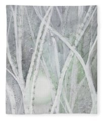 Twilight In Gray II Fleece Blanket
