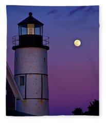 Twilight At Sandy Neck Lighthouse Fleece Blanket
