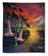 Twilight Trumpets Fleece Blanket