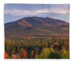 Twin Mountain Autumn Sunset Fleece Blanket