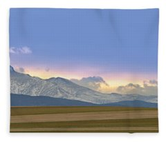 Twin Peaks Panorama View From The Agriculture Plains Fleece Blanket