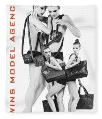 Twins Model Agency Fleece Blanket
