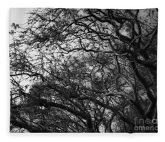 Twirling Branches Fleece Blanket