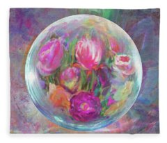 Twirling In Tulips Fleece Blanket
