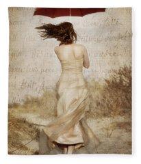 Twirling Painted Lady Fleece Blanket