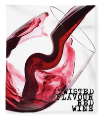 Twisted Flavour Red Wine Tfrw Bottom Fleece Blanket